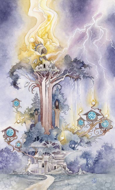 The Tower, from the Shadowscapes Tarot